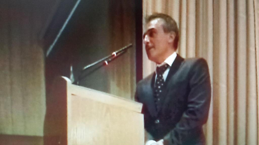 Ferran Pina, Mantenedor del Acto de la Fallera Mayor Infantil 2015